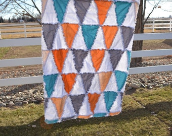 Triangle Rag Quilt Pattern - Baby Blanket Sewing Pattern - Baby Girl Quilt Pattern- Toddler Bedding Pattern- How to Make a Rag Quilt Pattern