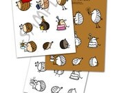 Busy Hedgehogs clip art, GIF, JPEG and PDF