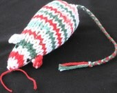 Catnip Mouse Cat Toy as a Cotton Candy Cane