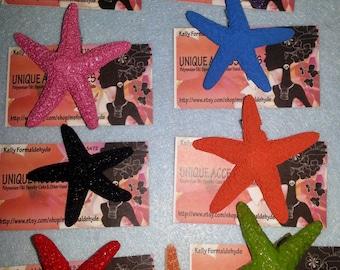 Starfish barrette, ocean, Beach wedding, tropical wedding, bridal, starfish, starfish hair clip, fish, ocean clip,beach, mermaid
