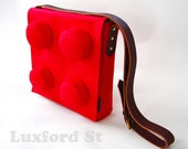 Big Block Messenger Bag in Red