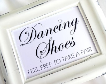Dancing Shoes Sign - White or Ivory