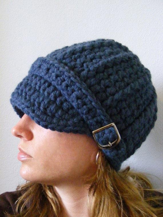 Denim Blue Womens Hat Blue Womens Beanie Blue Womens Cap Blue Hat Blue Beanie Blue Cap Denim Hat Denim Beanie Denim Cap Silver Buckle Beanie