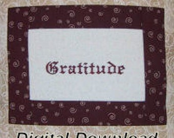 Gratitude  Embroidery Design Set  of 10 designs - THANKSGIVING - Pes Files