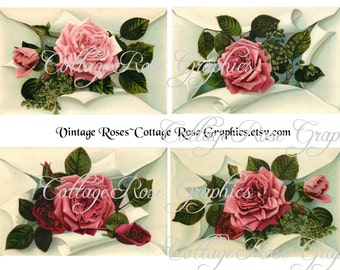 Large digital download collage Vintage Victorian Roses  ATC ACEO ECS buy 3 get one free