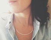 Hammered Sterling Silver Arch Necklace  silver geometric necklace, hammered necklace, silver arc necklace