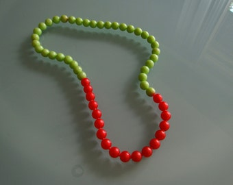Vintage Green and Red and Retro Hippie Pop Beads