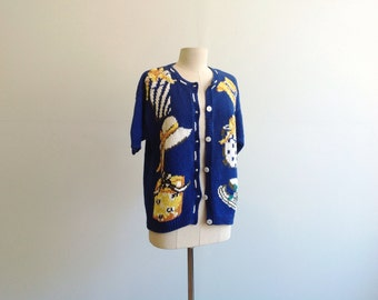 Odd Vintage Knit Cotton Cardigan.