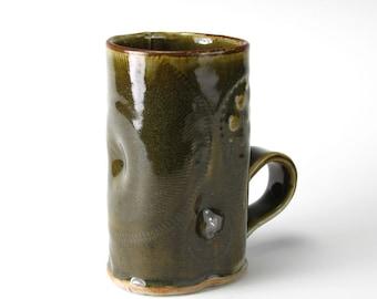 Army Green Salvage Textured Mug