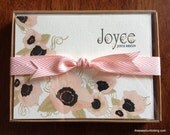 Poppy Personalized Note Cards - Pink Poppies