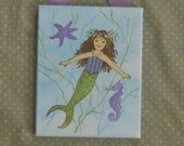 Further REDUCTION -Mermaid Painting on Stretched Canvas