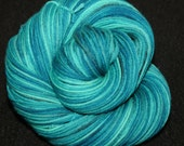 Handpainted Sock Yarn -  DK weight Sock Yarn - 100% 4 Ply Superwash Merino Wool  - Sea Glass