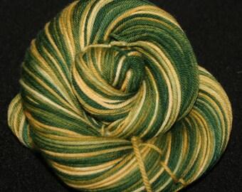 Handpainted Sock Yarn -  DK weight Sock Yarn - 100% 4 Ply Superwash Merino Wool  - Cya later Alligator