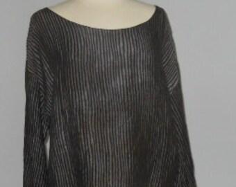 Cropped Silk Blend Blouse