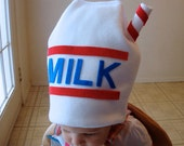 Ready to Ship... MIlk Carton Costume Hat ONLY  Halloween Purim Mens Womens Babies Toddlers Kids Teens