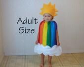 Adult Rainbow Costume Sunshine Clouds Halloween Costume Teen Photo Prop