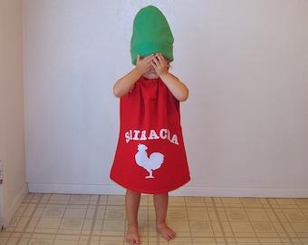Baby Costume Sriracha Halloween Costume Hot Chili Sauce Toddler Adult Kids Food Carnaval Carnival Karneval Purim Fancy Dress