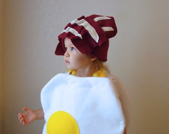 Baby Costume Toddler Costume Halloween Costume Egg With Bacon Baby Boy Baby Girl