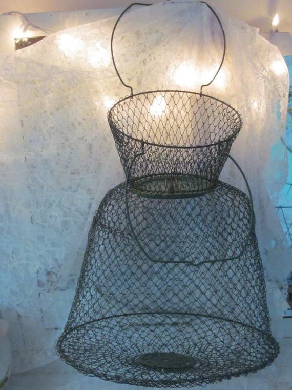 Vintage french wire fish basket keeper by perfectpielady for Fish wire basket