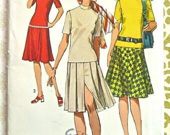 Vintage 1970s Womens Dropped Waist Dress Pattern - Simplicity 9257