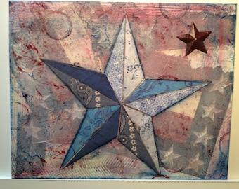 Patriotic Star Collage Blue 2