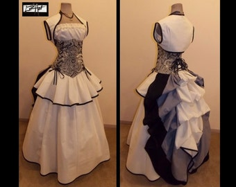 CHERISHED - Steampunk Victorian Corset Bustle Full Costume Set -   CUSTOM by LoriAnn Costume Designs