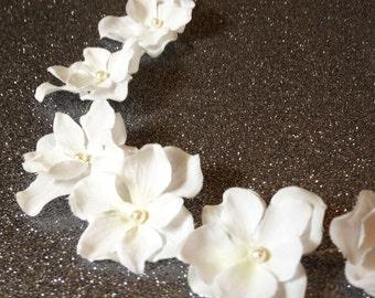 Bridal Hair Wreath (hair accessory/headband/tiara) Swarovski Pearls/Crystals - Flower Crown - Flowergirl