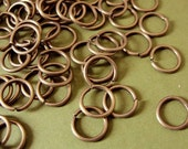 8mm Antiqued Brass  open unsoldered  jumprings, 18 ga,   200 pcs, JRAB4607
