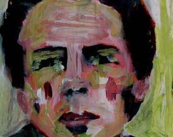Digital Print - Man Portrait Painting - Living Room Wall Decor