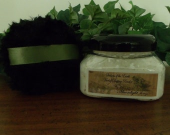 """4 oz. Natural Herbal Dusting Powder w/ Puff """"D-H"""" Scents"""