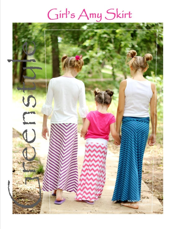 greenstyle s maxi skirt with chevron option easy