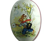 Made In Germany Papier Paper Mache Easter Egg Box  4.5 Inch  #209 S