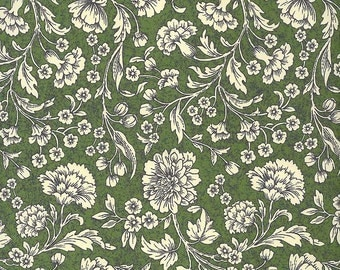 Made In Italy Authentic Florentine Paper Traditional Victorian Flowers Green By Rossi  R110GR