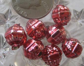 7 Glass Garland Beads Christmas Garland Pink Beads Czech Republic Style 034 PK