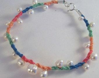 40% OFF Vanilla n Sherbet.. White freshwater pearl embellished friendship bracelet