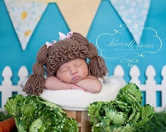 Custom Crochet Cabbage Patch Hat