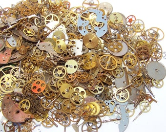 GEARS 10g. PIeces Vintage and New Old Stock STEAMPUNK Watch Parts Steam Punk