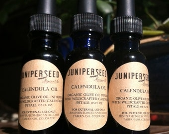 Wildcrafted Calendula-Inflused Organic Olive Oil
