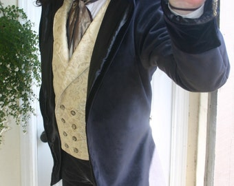 Ivory Tapestry  Steampunk Victorian Double Breasted Lapeled Gentlemen's Vest