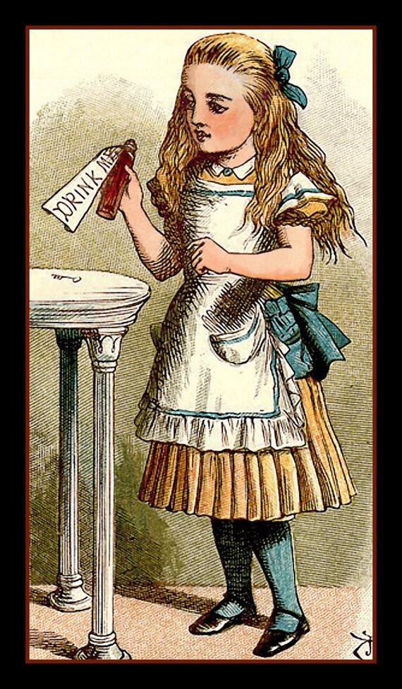 Alice in wonderland illustration