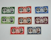 8 Monaco Royal Wedding Stamps Grace Kelly Prince Rainier Unused Unhinged