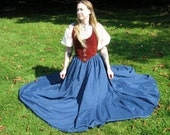 White or Natural 32 inch Long Short Sleeved Chemise Ready to Go SCA Renaissance Faire LARP Pennsic