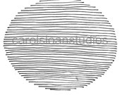Thermofax Screen Oval Horizontal Lines