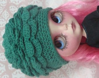 Ayalaythe - Vegetables crochet hat  for Blythe doll - Lettuce