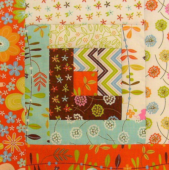 12 Block Log Cabin Pre Cut Quilt Kit 29 X 39 Wren Friends
