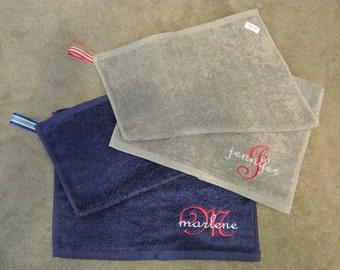 Pocket Workout Sweat Towel - Gym Towel - Yoga Towel - Golf Towel - Sports Towel - Custom Towel - Active Towel - Bowling Towel