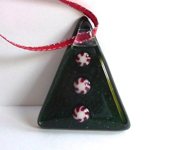 Christmas Tree Ornaments Etsy: Fused Glass Christmas Tree Ornament By Bprdesigns On Etsy