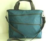 Sale - Water Resistant Nylon Bag in Dark Sky Blue - Messenger, Laptop bag, Tote, Shoulder bag, Women, Unisex - TAMPA