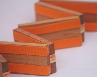Toy Jacob's Ladder - Handcrafted Wooden Folk Toy Jacob's Ladder - Orange Sherbet