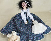 Glynys The Seamstress With Her Work - Fantasy Art Doll